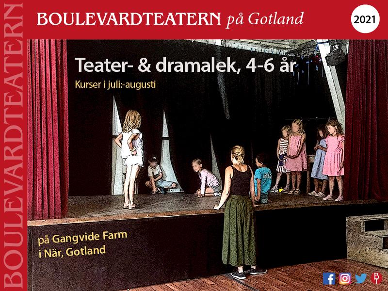 Teater- och dramalek 4-6 år med Boulevardteatern