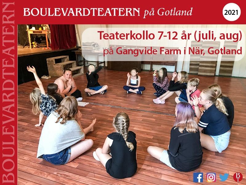 Teaterkollo 7-12 år med Boulevardteatern